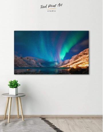 Nordic Northern Lights Scene Canvas Wall Art