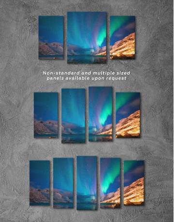 Nordic Northern Lights Scene Canvas Wall Art - image 5