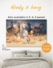 Horse in Desert Canvas Wall Art