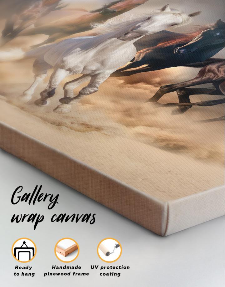 Horse in Desert Canvas Wall Art - Image 3