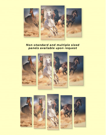 Horse in Desert Canvas Wall Art - image 4