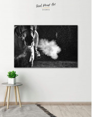 Black and White Horse Canvas Wall Art - Image 0
