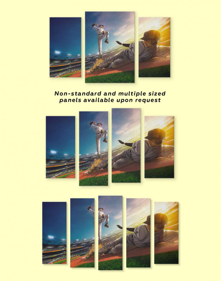 Baseball Sports Game Canvas Wall Art - Image 2
