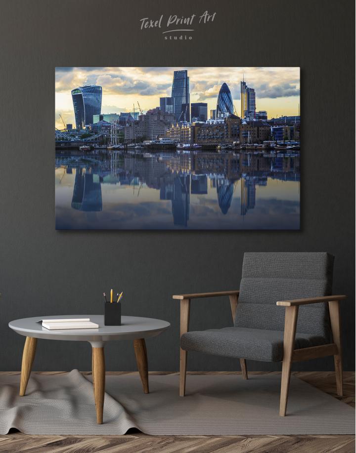 London Cityscape View Canvas Wall Art