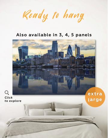 London Cityscape View Canvas Wall Art - image 4