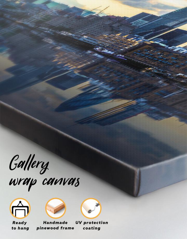 London Cityscape View Canvas Wall Art - Image 3