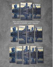London Cityscape View Canvas Wall Art - Image 1