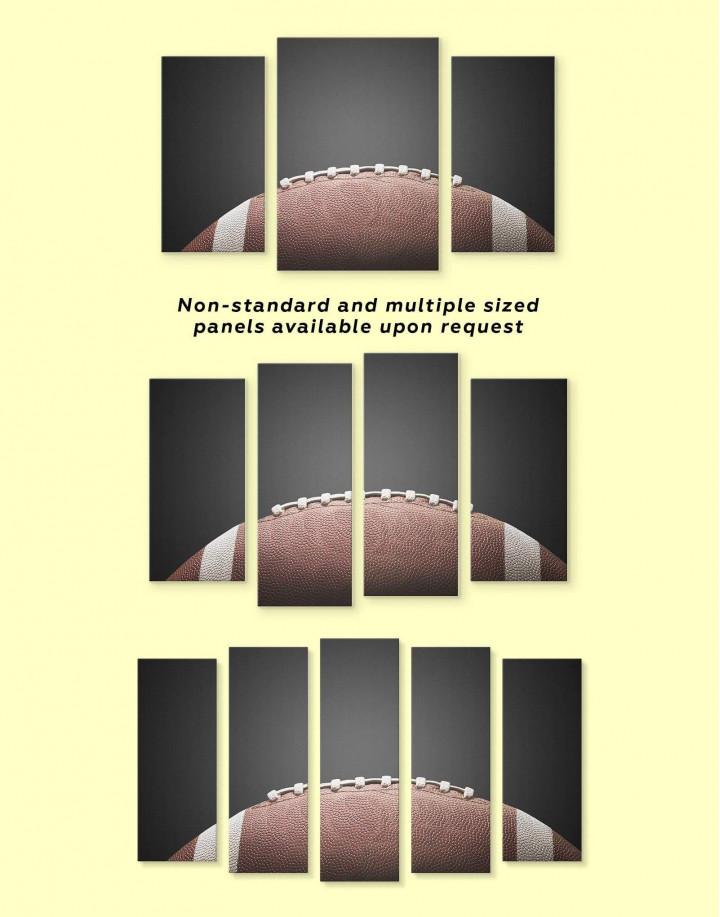 American Football Ball Canvas Wall Art - Image 3