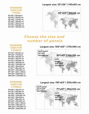 Modern World Map Smoke Canvas Wall Art - image 2