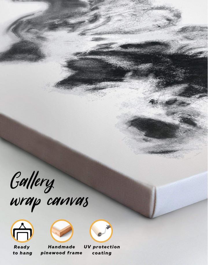 Modern World Map Smoke Canvas Wall Art - Image 4
