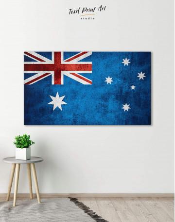 Flag of Australia Canvas Wall Art