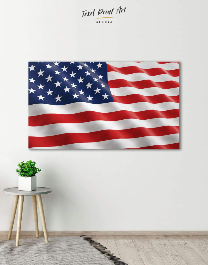 National Flag of the USA Canvas Wall Art - Image 0