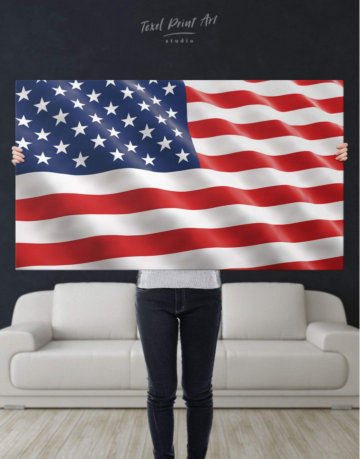 National Flag of the USA Canvas Wall Art - Image 5