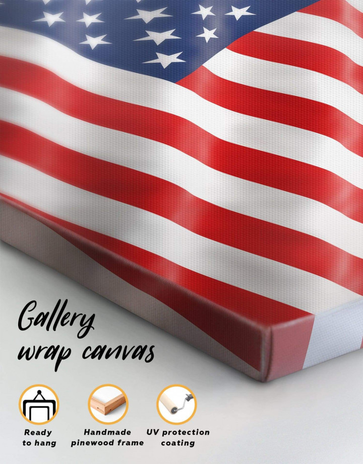National Flag of the USA Canvas Wall Art - Image 4