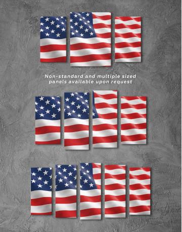 National Flag of the USA Canvas Wall Art - image 5