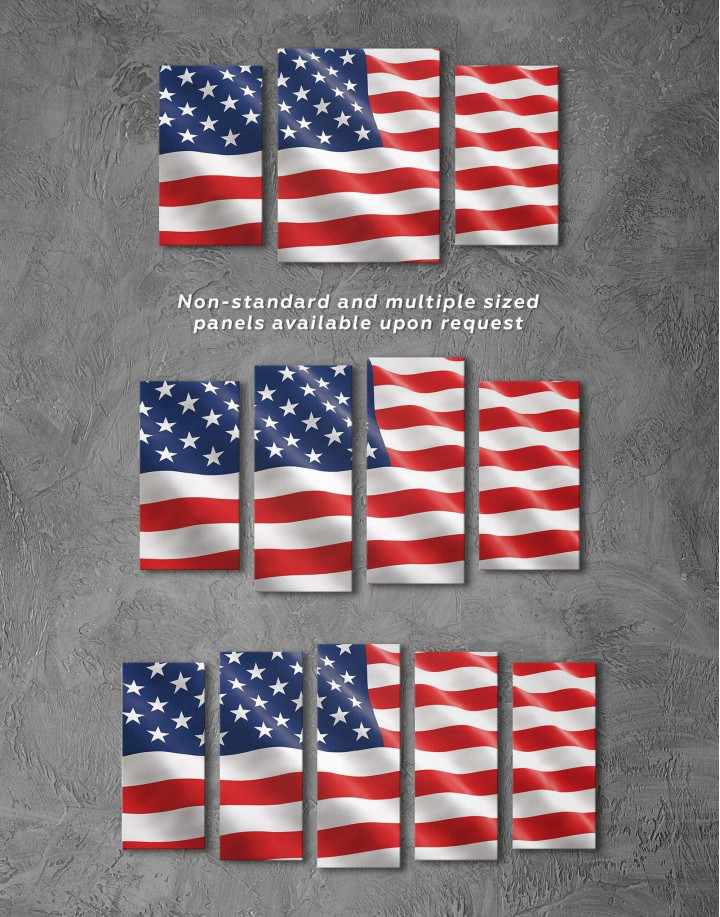 National Flag of the USA Canvas Wall Art - Image 2