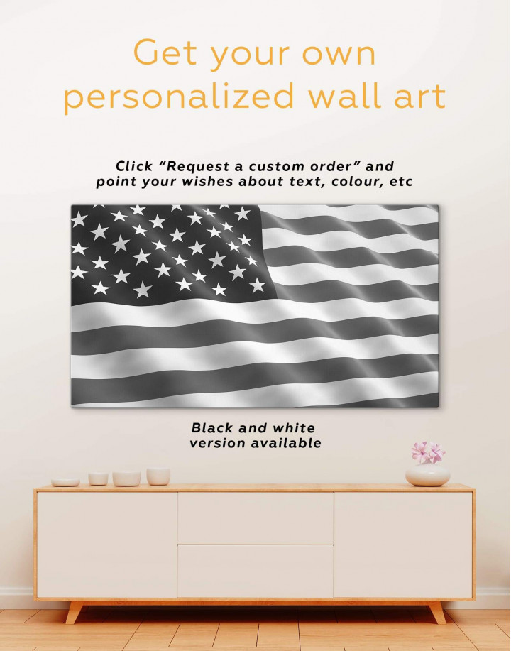 National Flag of the USA Canvas Wall Art - Image 1