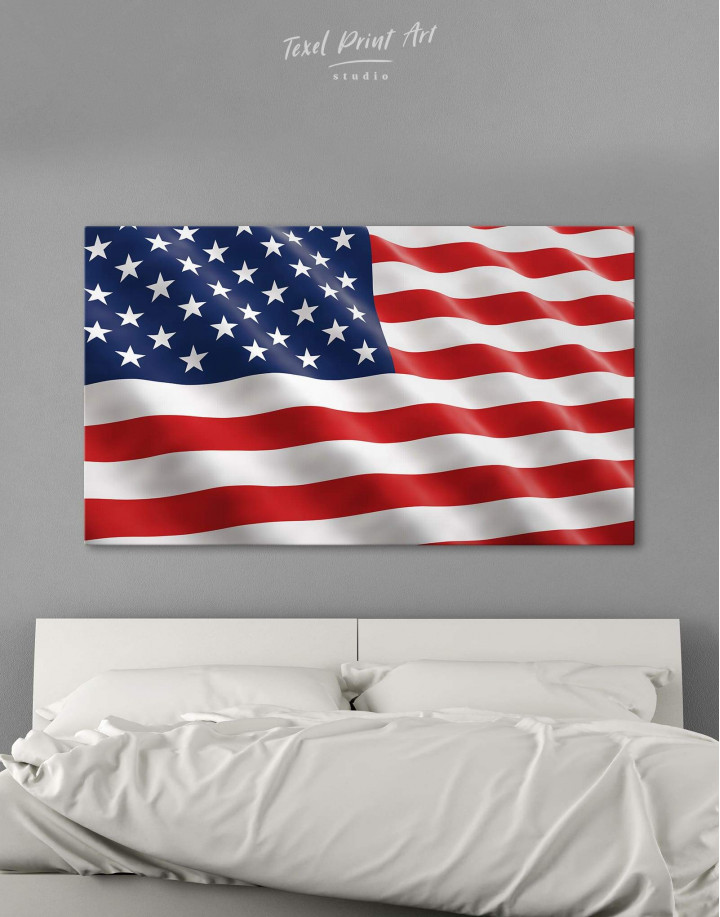 National Flag of the USA Canvas Wall Art - Image 6