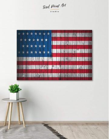 Flag of the USA Canvas Wall Art