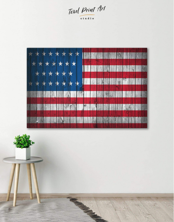 Flag of the USA Canvas Wall Art - Image 0