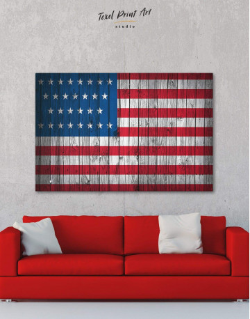 Flag of the USA Canvas Wall Art - image 1
