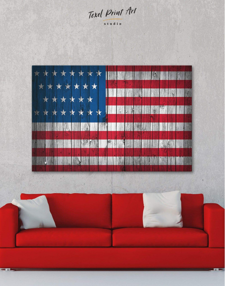 Flag of the USA Canvas Wall Art - Image 6