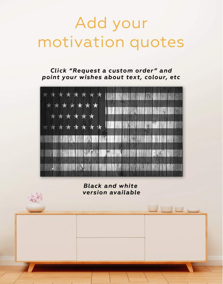 Flag of the USA Canvas Wall Art - Image 1