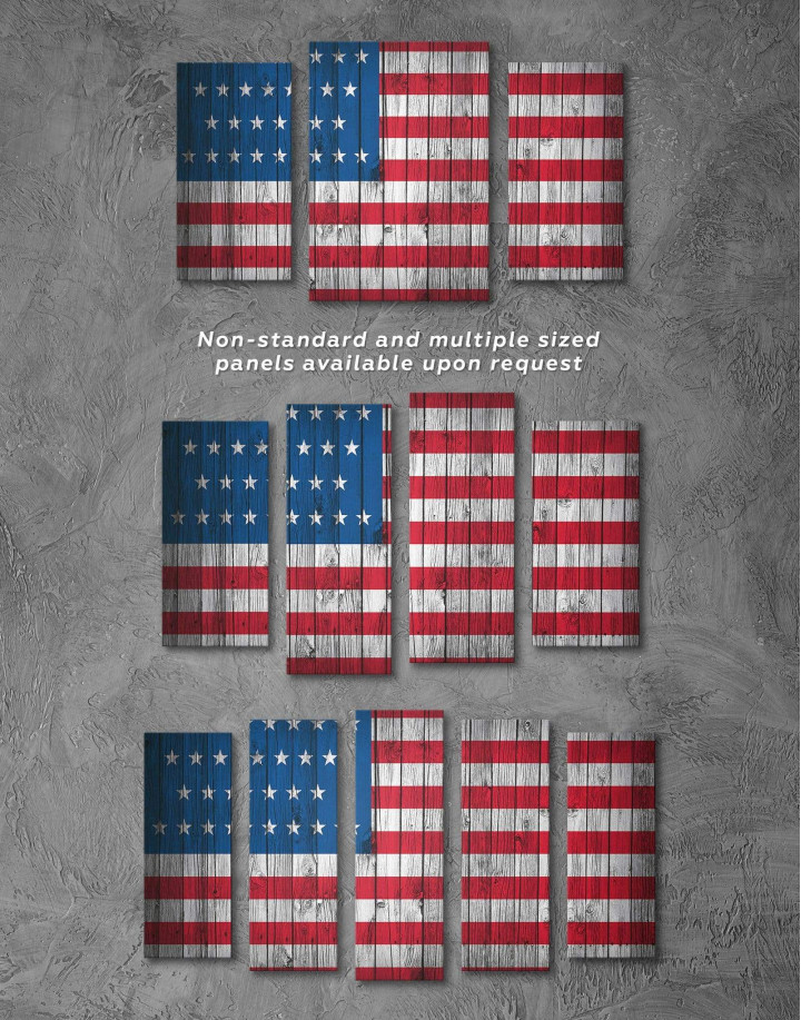Flag of the USA Canvas Wall Art - Image 2