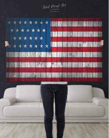 Flag of the USA Canvas Wall Art - image 2