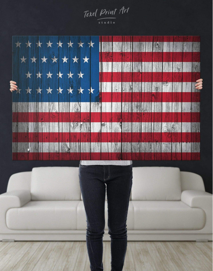 Flag of the USA Canvas Wall Art - Image 5