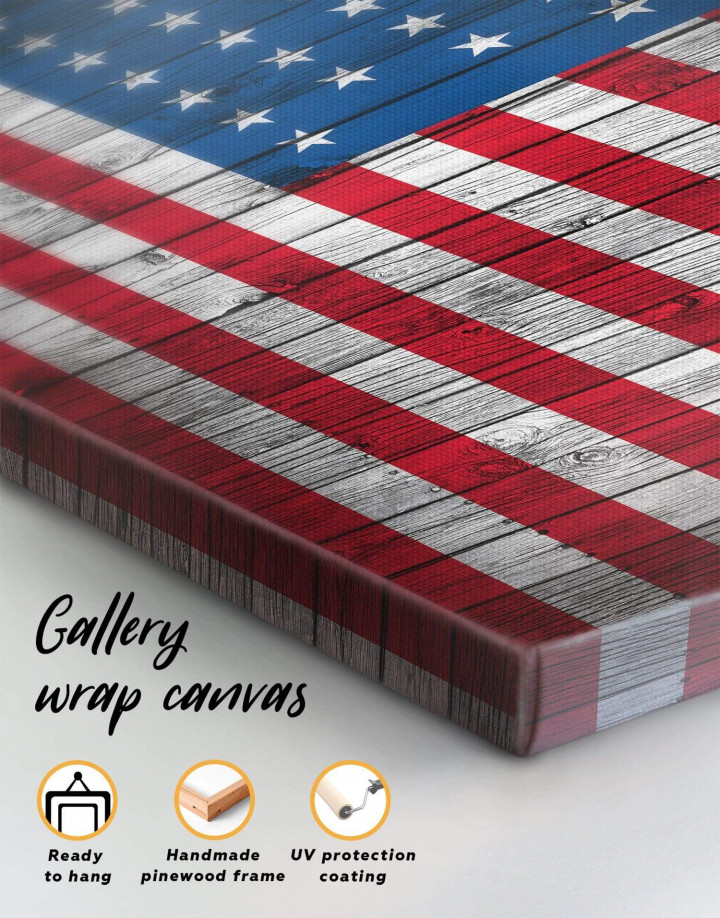 Flag of the USA Canvas Wall Art - Image 4