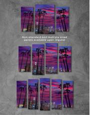 Night Miami Canvas Wall Art - Image 2
