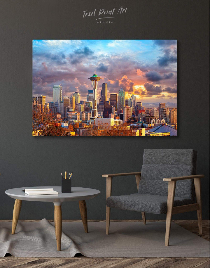 Seattle Skyline Canvas Wall Art - Image 0
