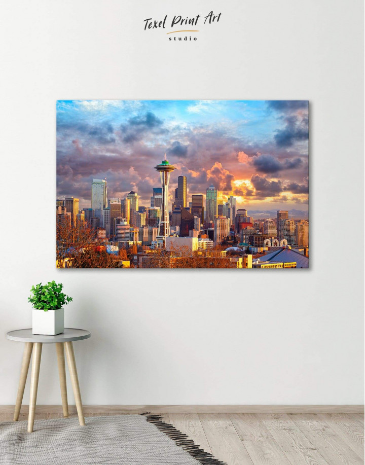 Seattle Skyline Canvas Wall Art - Image 5