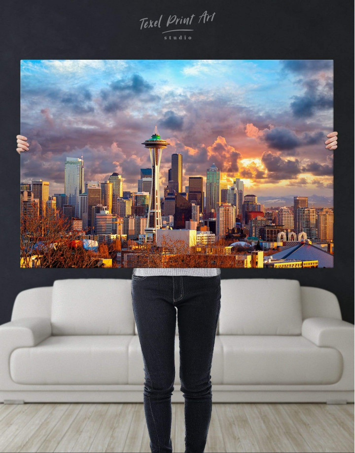 Seattle Skyline Canvas Wall Art - Image 4