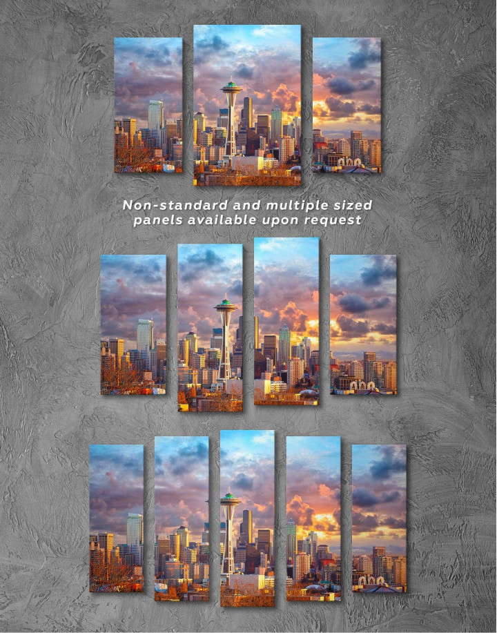 Seattle Skyline Canvas Wall Art - Image 2