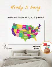 Push Pin USA Map Canvas Wall Art - Image 8