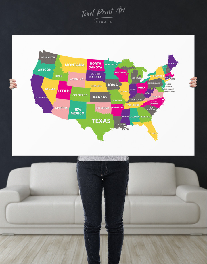 Push Pin USA Map Canvas Wall Art - Image 7