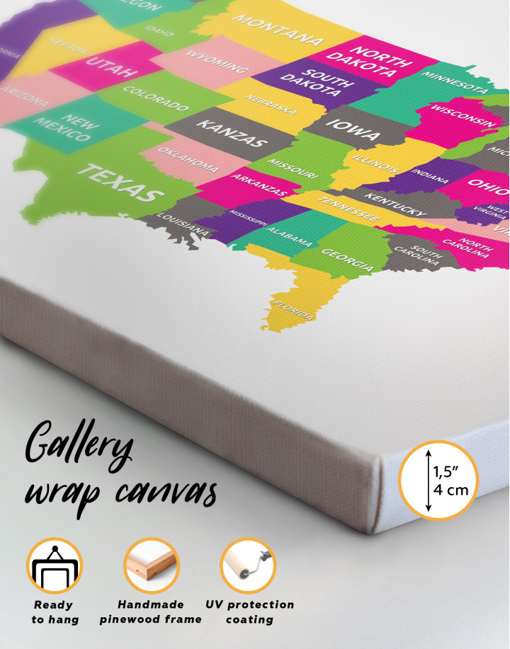 Push Pin USA Map Canvas Wall Art - Image 3