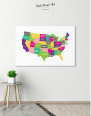 Push Pin USA Map Canvas Wall Art - Image 5