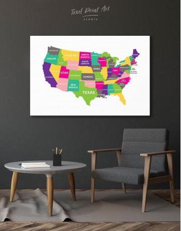 Push Pin USA Map Canvas Wall Art - image 6