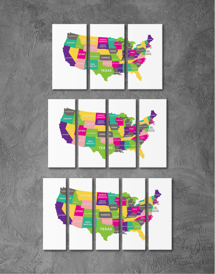 Push Pin USA Map Canvas Wall Art - Image 4