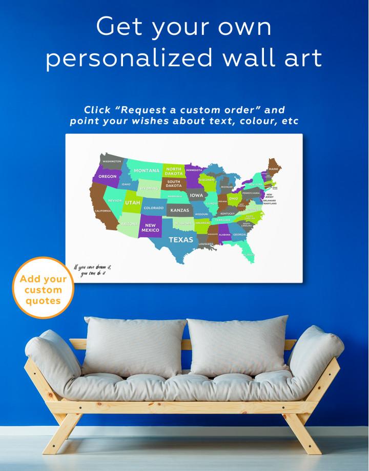 Push Pin USA Map Canvas Wall Art - Image 9