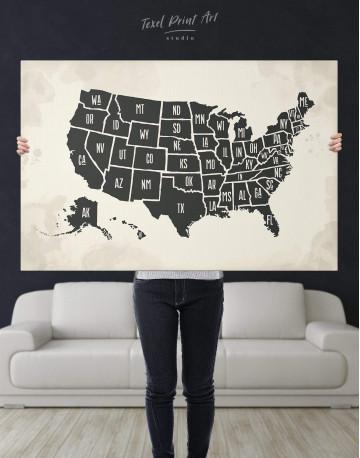 Modern USA Map Canvas Wall Art - image 5