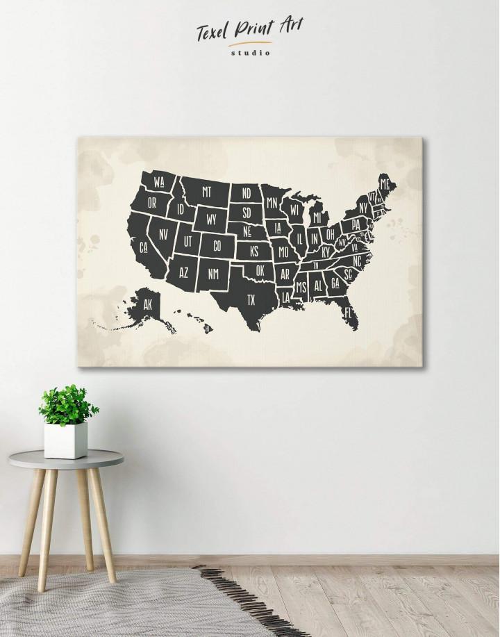 Modern USA Map Canvas Wall Art - Image 6