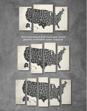Modern USA Map Canvas Wall Art - image 2