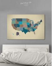 USA Abstract Map Canvas Wall Art - Image 4