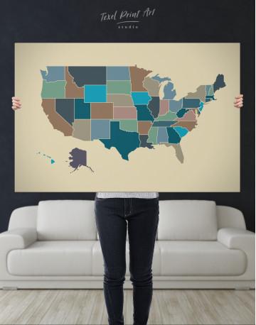 USA Abstract Map Canvas Wall Art - image 7