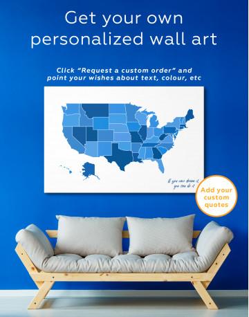 USA Abstract Map Canvas Wall Art - image 8