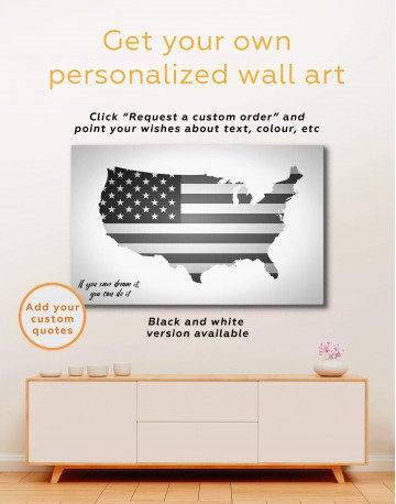 Patriotic USA Map Canvas Wall Art - image 3